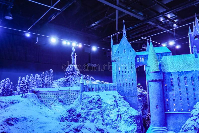 The Making of Harry Potter is a public attraction in Leavesden, London, UK which preserves and showcases the iconic props. Warner Bros. Studio Tour - The Making stock photo