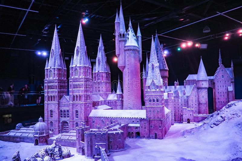 The Making of Harry Potter is a public attraction in Leavesden, London, UK which preserves and showcases the iconic props. Warner Bros. Studio Tour - The Making royalty free stock image