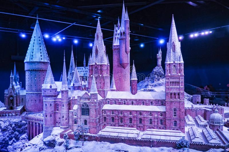 The Making of Harry Potter is a public attraction in Leavesden, London, UK which preserves and showcases the iconic props. Warner Bros. Studio Tour - The Making royalty free stock images