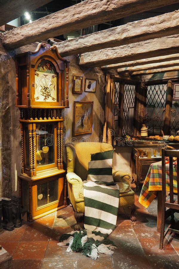 The Making of Harry Potter is a public attraction in Leavesden, London, UK which preserves and showcases the iconic props. Warner Bros. Studio Tour - The Making royalty free stock photo