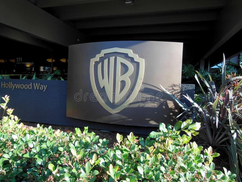 Warner Brothers Signage stock photo