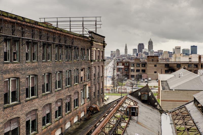 Warner u. Swasey, die Cleveland, Ohio übersehen lizenzfreie stockfotografie