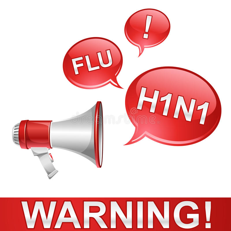 Download Warning stock vector. Image of disease, megaphone, epidemic - 10729929
