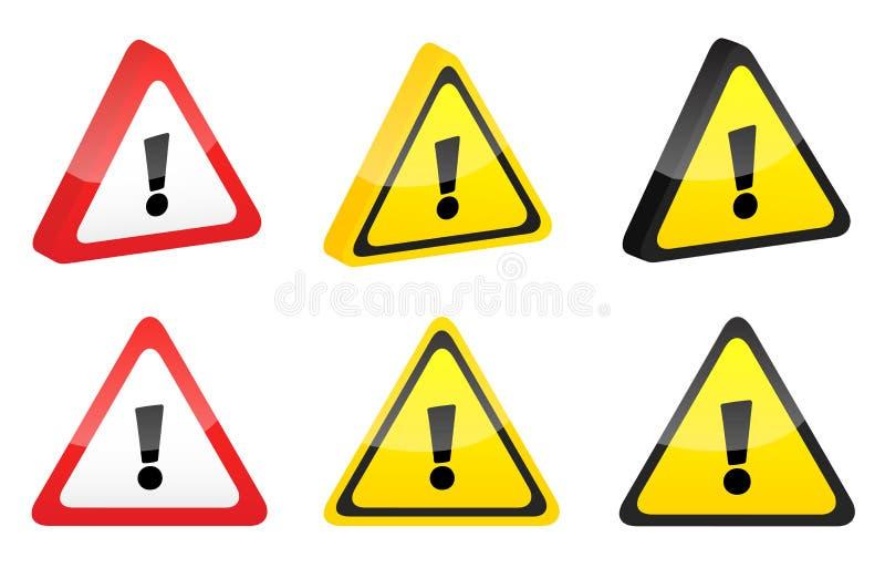 WARNING lizenzfreie stockbilder