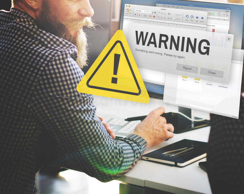 Warning Accident Caution Dangerous Help Concept.  royalty free stock photos