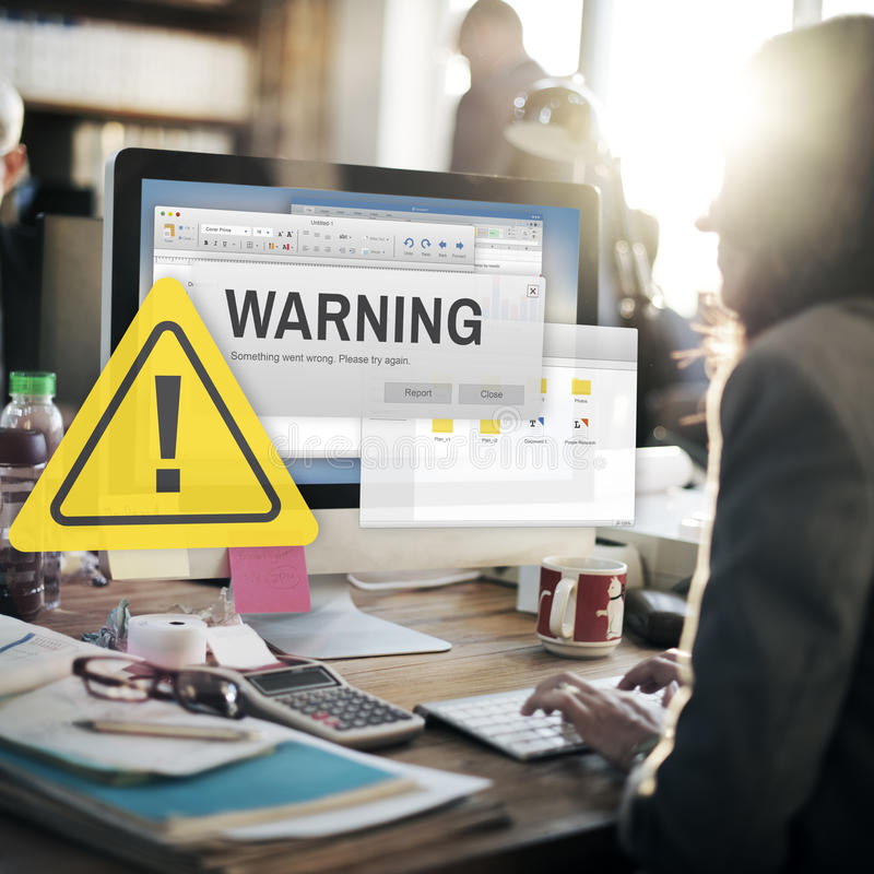 Warning Accident Caution Dangerous Help Concept stock photography