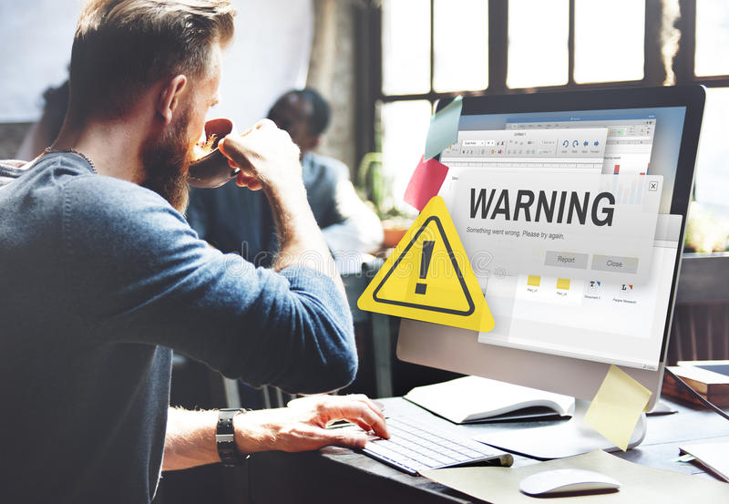 Warning Accident Caution Dangerous Help Concept royalty free stock photos