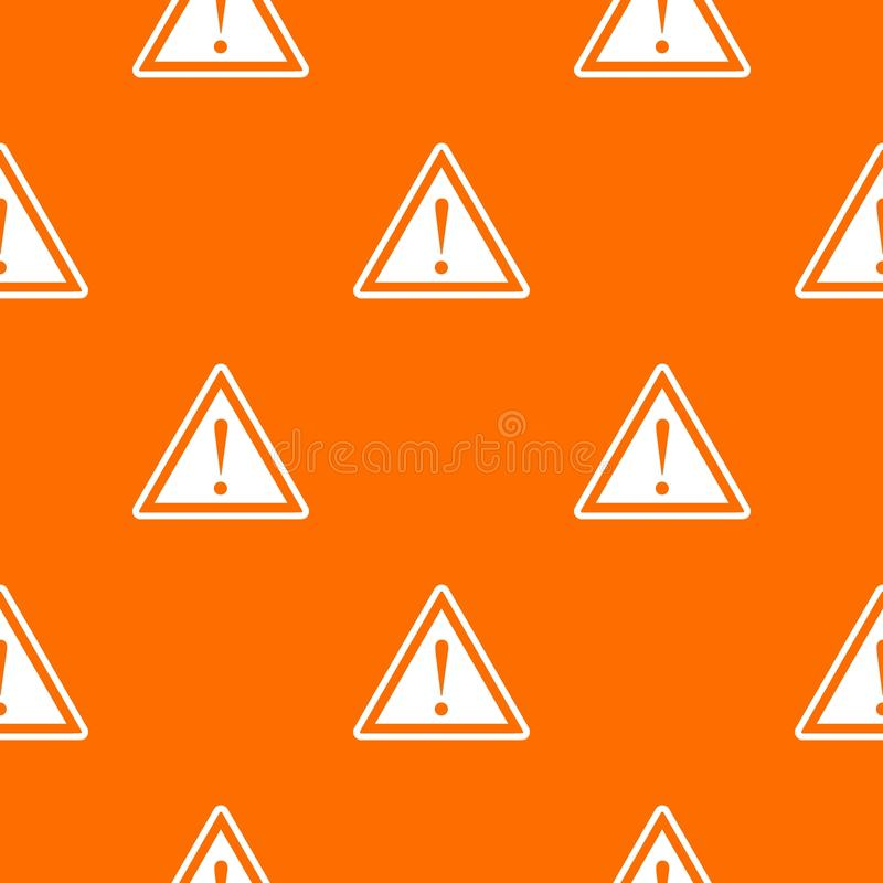 Warning attention sign with exclamation mark pattern seamless vector illustration