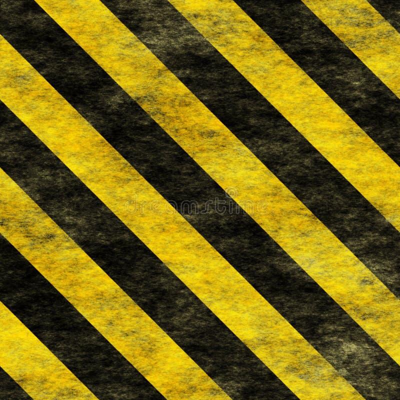 Warning Black&Yellow Hazard Sign stock photography
