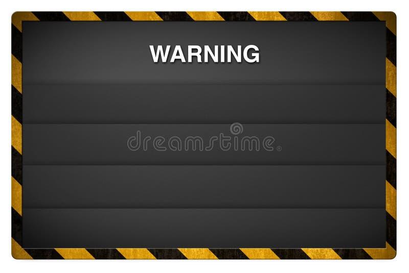 Warning blackboard background royalty free illustration