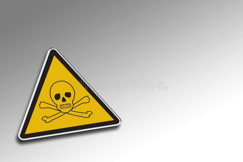 Warning Chemical royalty free illustration