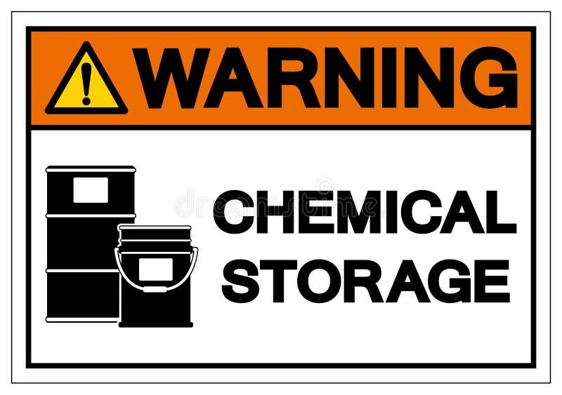 Warning Chemical Storage Symbol Sign, Vector Illustration, Isolate On White Background Label .EPS10 royalty free illustration