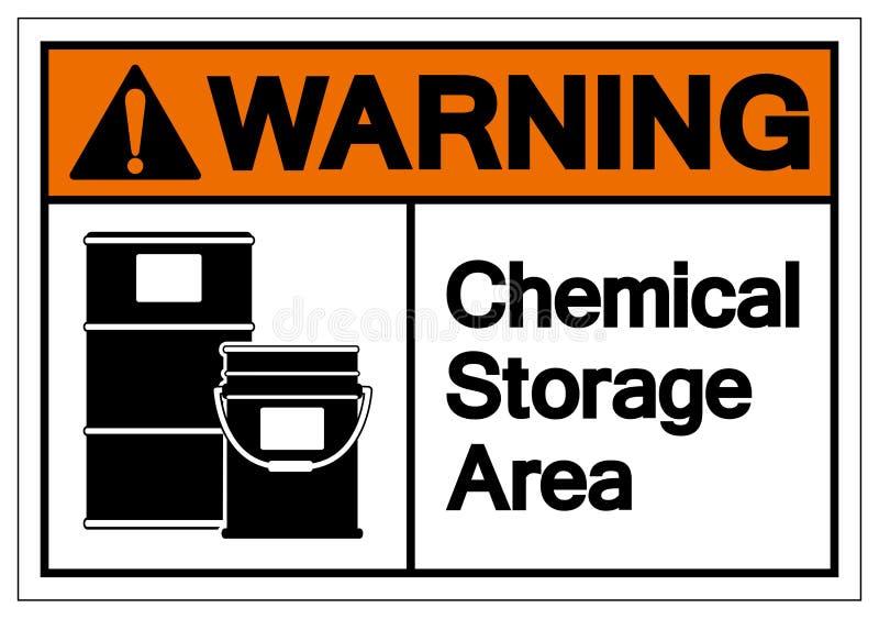 Warning Chemical Storage Symbol Sign, Vector Illustration, Isolate On White Background Label .EPS10 vector illustration
