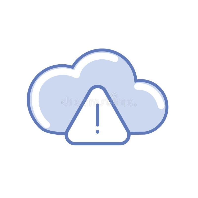 Warning cloud data stock photography
