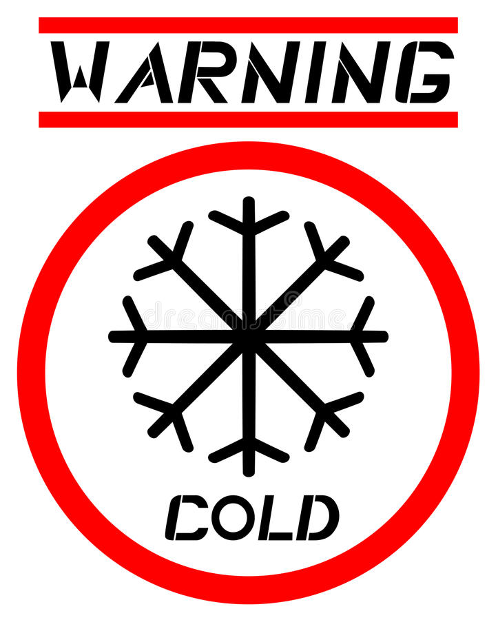 Warning Cold Sign Stock Photography