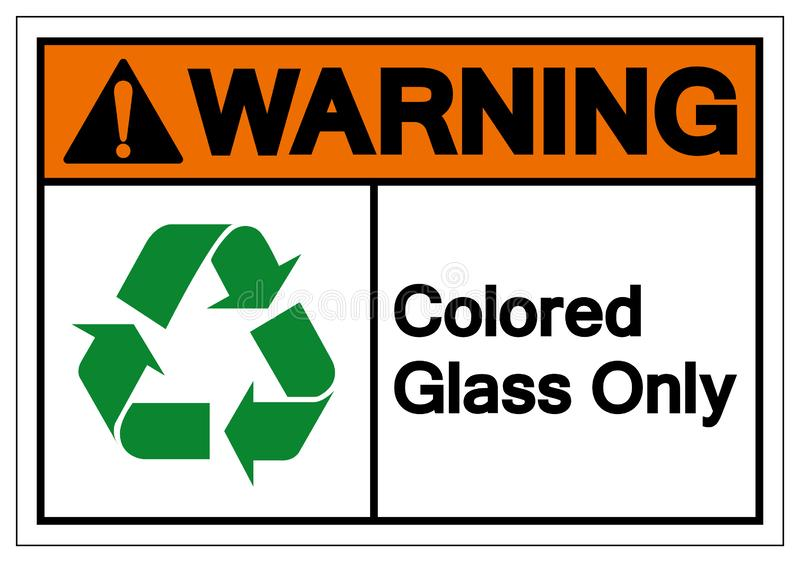Warning Colored Glass Only Symbol Sign ,Vector Illustration, Isolate On White Background Label .EPS10 vector illustration