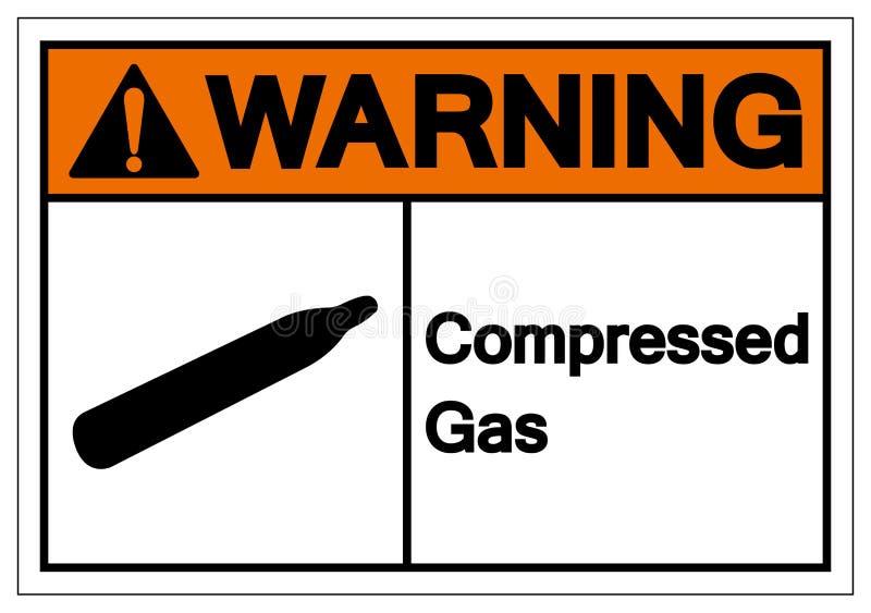 Warning Compressed Gas Symbol Sign, Vector Illustration, Isolate On White Background Label. EPS10. Warning Compressed Gas Symbol Sign, Vector Illustration stock illustration