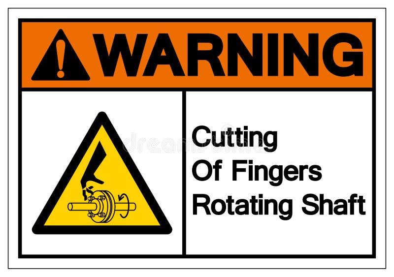 Warning Cutting of Fingers Rotating Shaft Symbol Sign, Vector Illustration, Isolate On White Background Label .EPS10 royalty free illustration