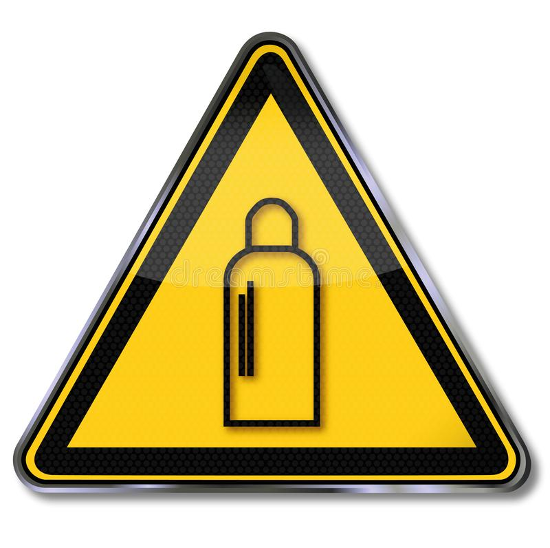 Warning of gas cylinders stock illustration