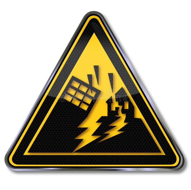 Free Warning Earthquake And Earthquake Area Royalty Free Stock Photo - 38716325