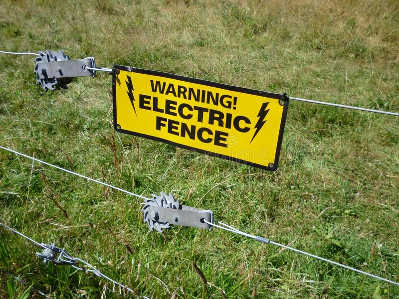 Warning-Electric Fence royalty free stock image