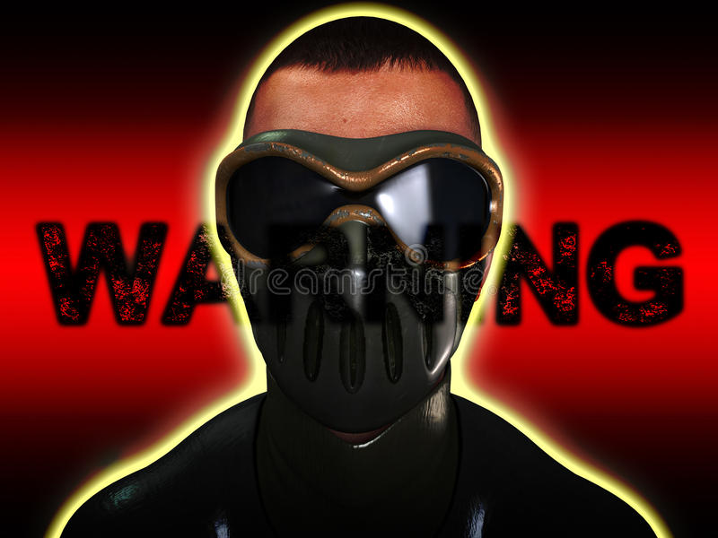 Download Warning Face stock illustration. Image of goggles, concept - 13459508