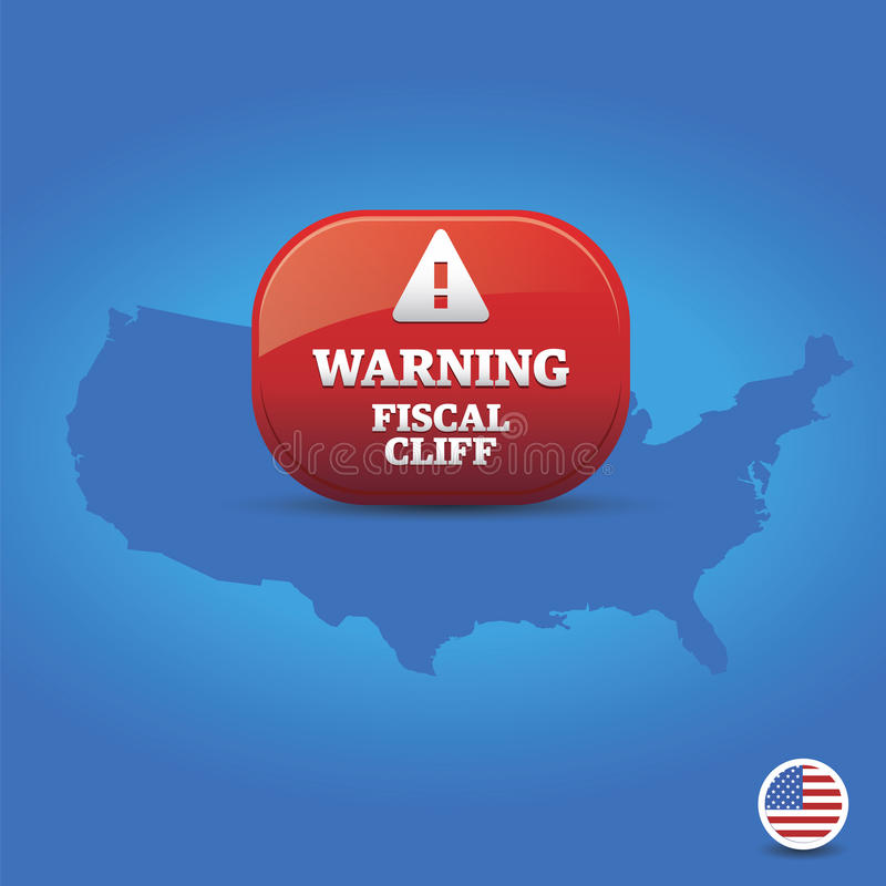 Download Warning - Fiscal Cliff stock image. Image of blue, crisis - 28455565