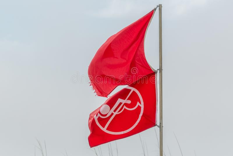 Warning flags royalty free stock image