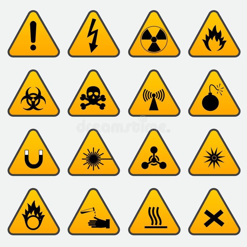 Warning Hazard Triangle Signs Stock Vector Illustration Of Laser