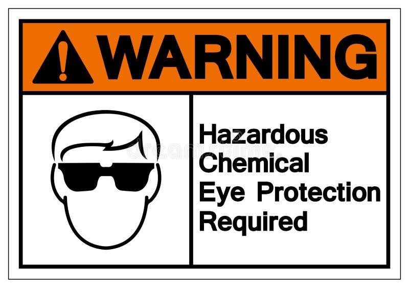 Warning Hazardous Chemical Eye Protection Required Symbol Sign, Vector Illustration, Isolate On White Background Label. EPS10 royalty free illustration