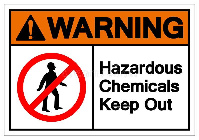 Warning Hazardous Chemicals Keep Out Symbol Sign, Vector Illustration, Isolate On White Background Label. EPS10 stock illustration