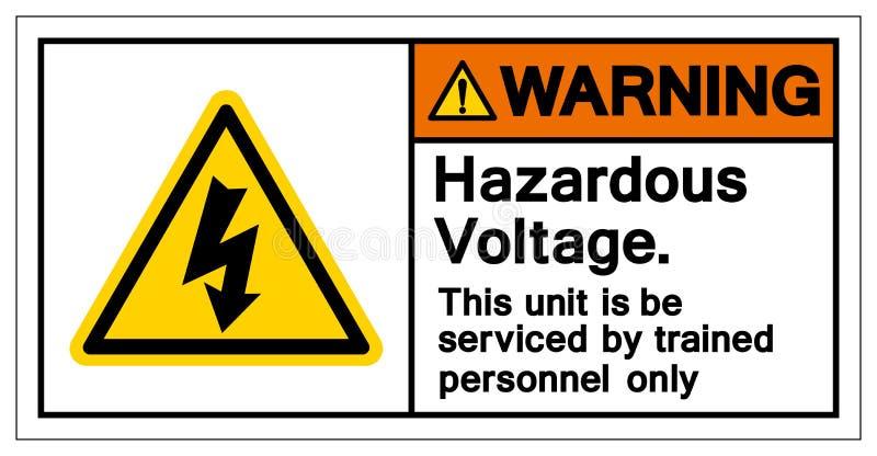 Warning Hazardous Voltage Symbol Sign, Vector Illustration, Isolated On White Background Label .EPS10 royalty free illustration