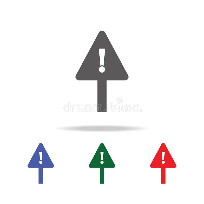 Warning icon. Elements of construction tools multi colored icons. Premium quality graphic design icon. Simple icon for websites, w. Eb design, mobile app, info stock image