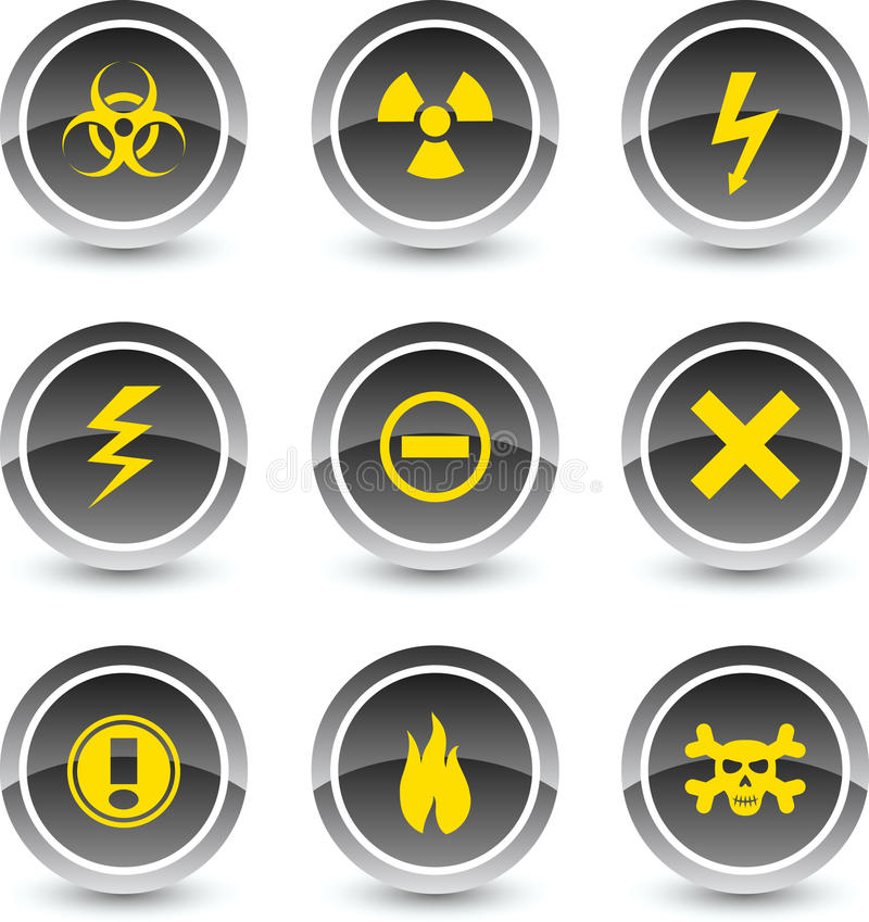 Warning Icons. Stock Photography