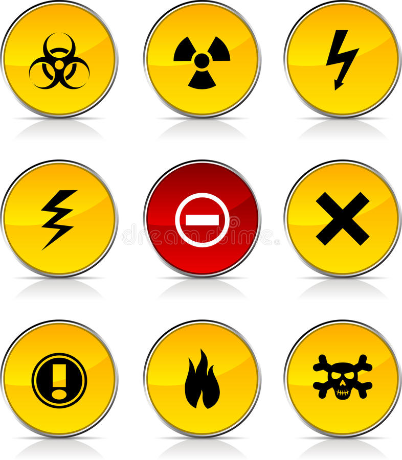 Download Warning  icons. stock vector. Image of collection, element - 13014819