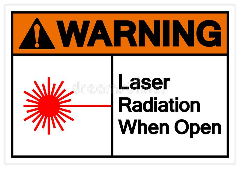 Warning Laser Radiation When Open Symbol Sign, Vector Illustration, Isolate On White Background Label .EPS10 vector illustration