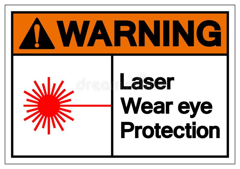Warning Laser Wear Eye Protection Symbol Sign, Vector Illustration, Isolate On White Background Label. EPS10 stock illustration