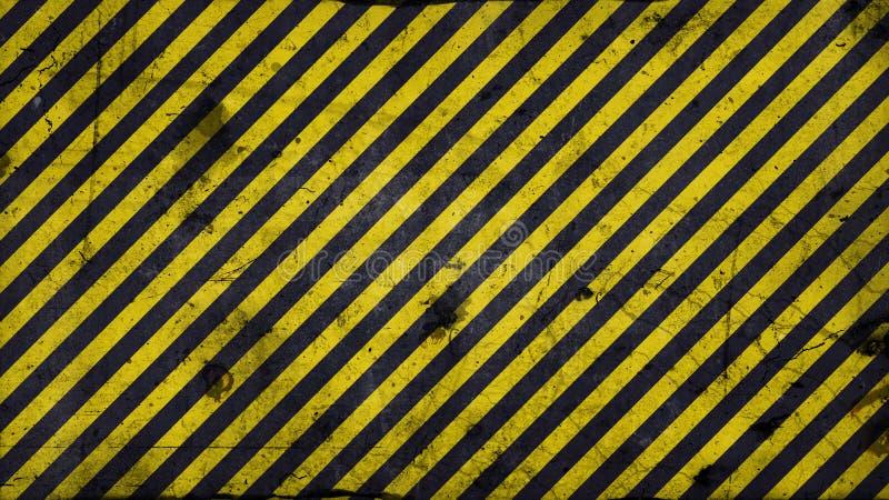 Warning lines - 16:9 ration. Black and yellow diagonal lines - warning lines - useful like grunge background ratio 16:9 royalty free illustration