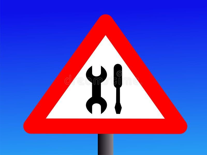 Download Warning maintenance sign stock vector. Illustration of caution - 4770426