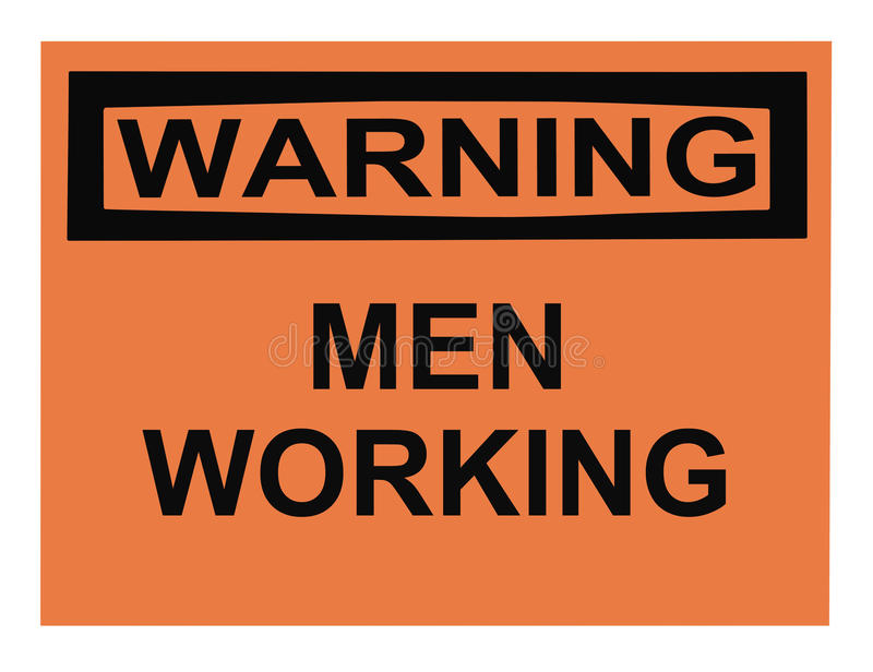 Download Warning Men Working Sign stock photo. Image of caution - 10375370