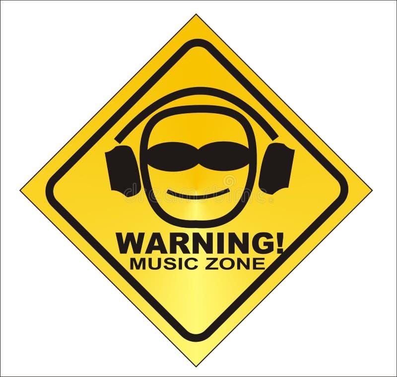 WARNING! music zone - stock illustration