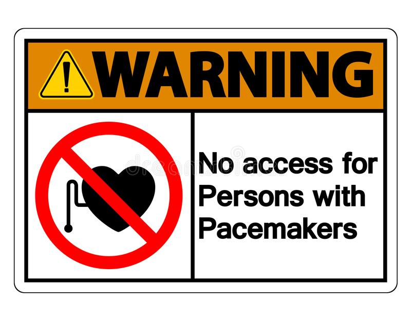 Warning No Access For Persons With Pacemaker Symbol Sign Isolate On White Background,Vector Illustration vector illustration