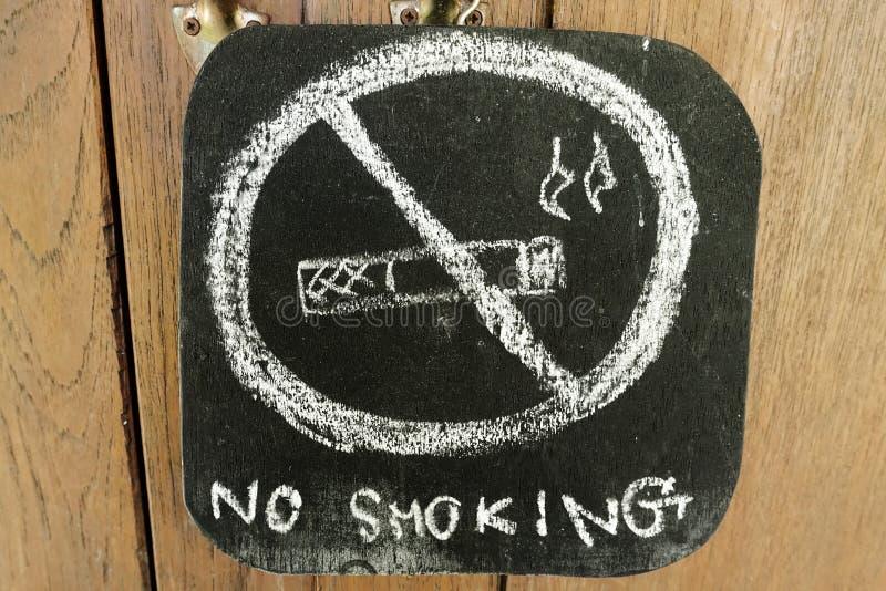 Warning no smoking on a blackboard royalty free stock image