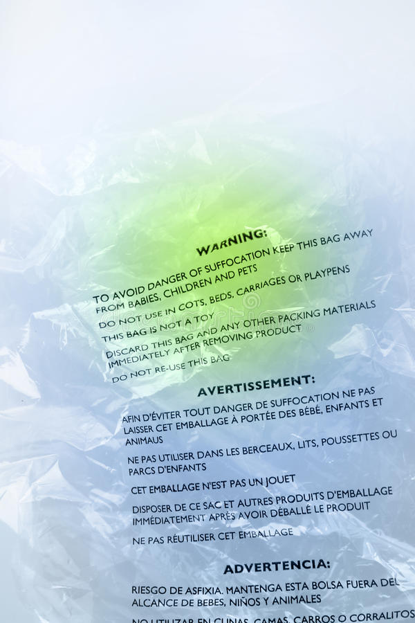 Download Warning on plastic stock photo. Image of printed, beware - 24617440