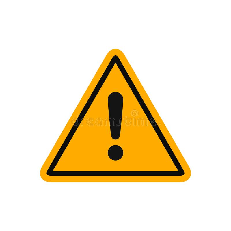 Free Warning, Precaution, Attention, Alert Icon, Exclamation Mark In Triangle Shape – Vector Stock Photography - 161011022