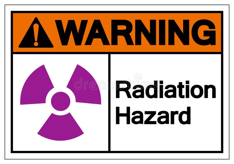 Warning Radiation Hazard Symbol Sign, Vector Illustration, Isolate On White Background Label. EPS10 vector illustration