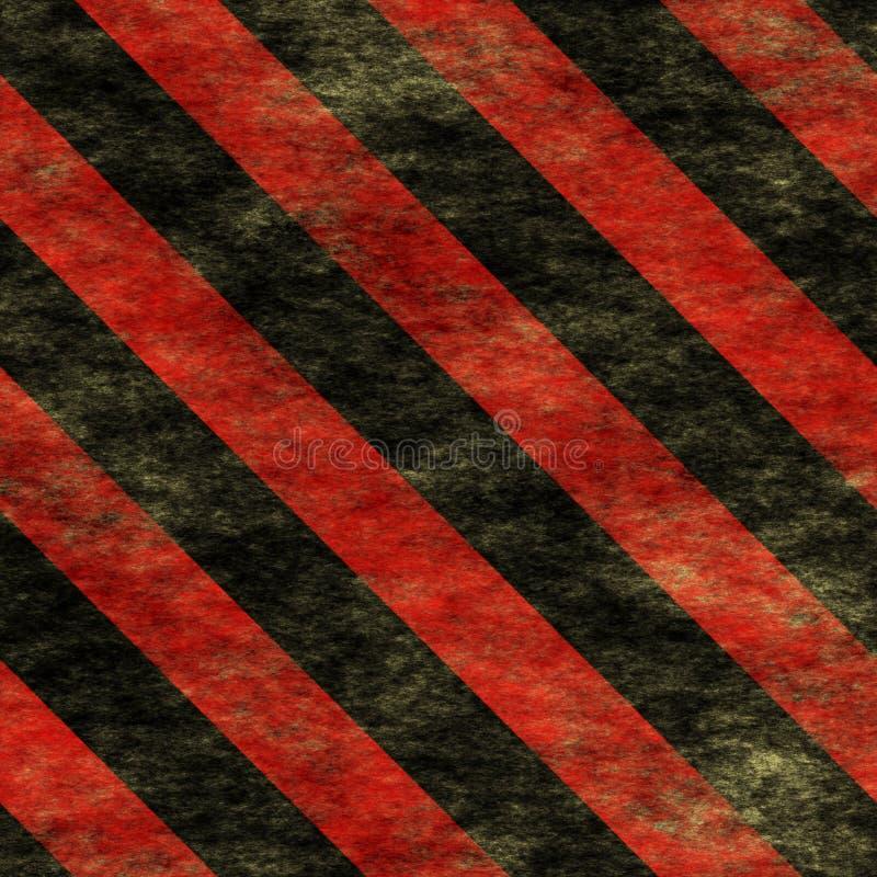 Warning Red&Black Hazard Sign royalty free stock image