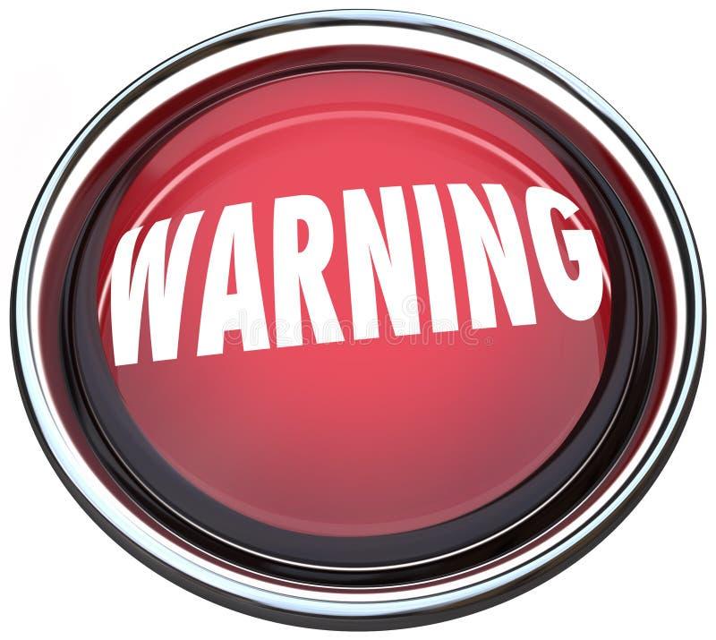 Warning Red Round Button Alarm Light Flashing Royalty Free Stock Image