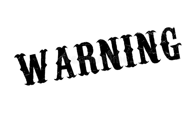 Warning rubber stamp. Grunge design with dust scratches. Effects can be easily removed for a clean, crisp look. Color is easily changed royalty free illustration