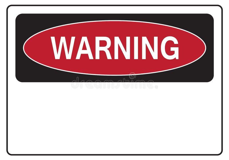 Warning sign stock illustration